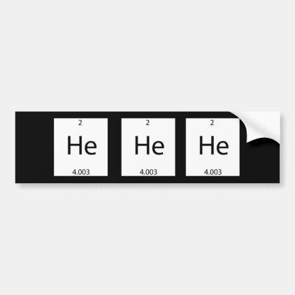 Helium Bumper Sticker