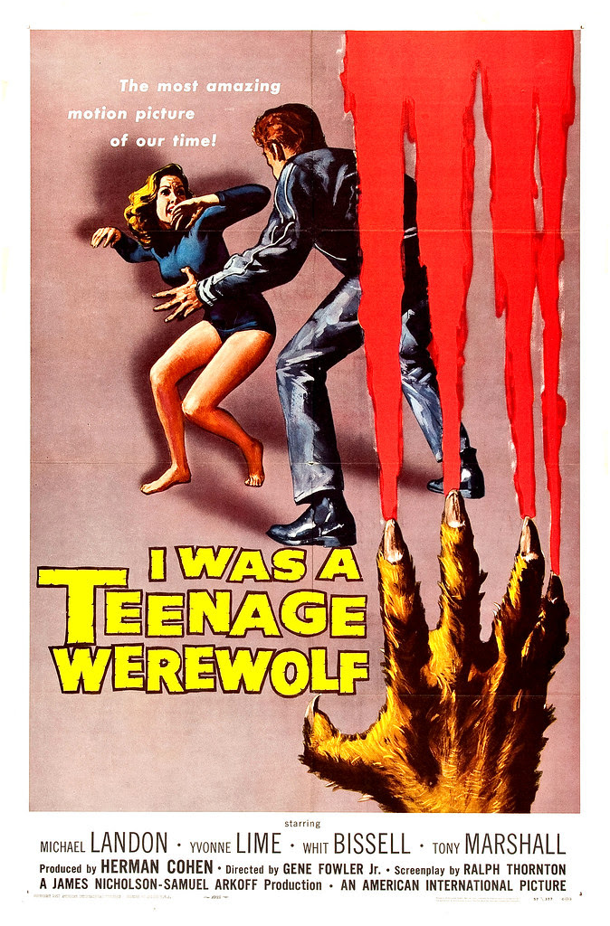 Reynold Brown - I Was a Teenage Werewolf (American International, 1957)