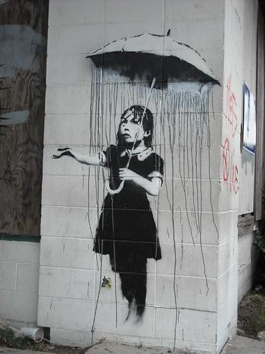 Banksy - It's Raining Grey Around Here