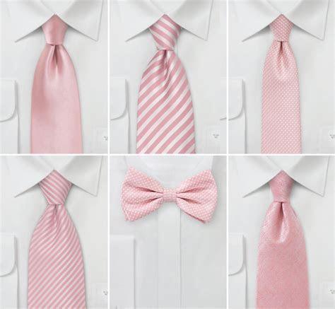 Wedding Color Inspiration for Rose Quartz   Groomsmen Ties