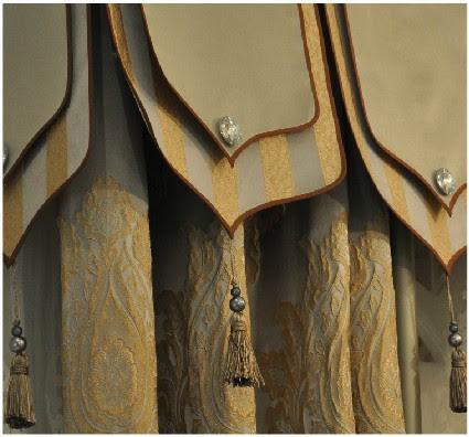 blind cortinas europe luxury curtain fabric jacquard Upholstery ...