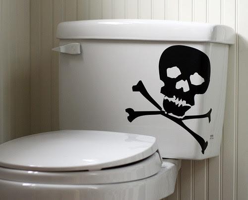 Skull-y toilet