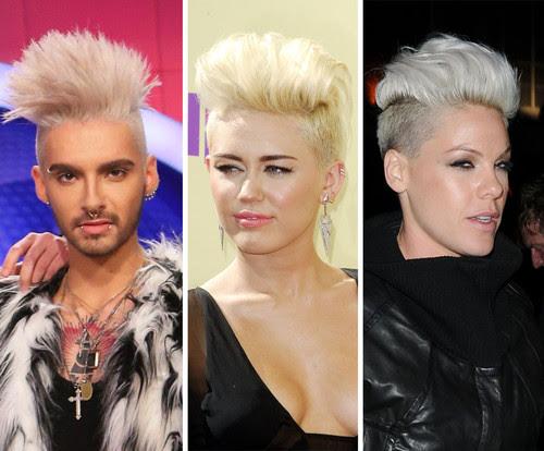 Miley Cyrus, Bill Kaulitz und Pink haben eine Vorliebe für den modischen Under-Cut