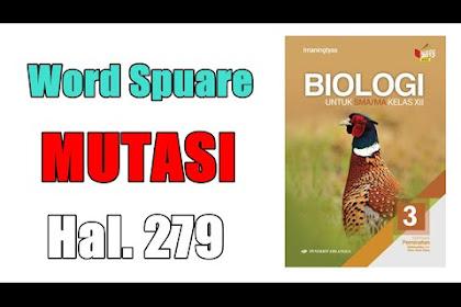 Word Square Mutagen Buku Biologi Erlangga Kelas XII Kurikulum 2013 Revisi