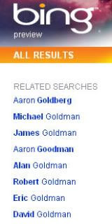 Bing Aaron Goldman related searches