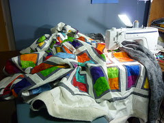 the quilting setup