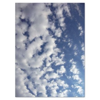 "Puffy Clouds On Blue Sky Tissue Paper 17"" X 23"" Tissue Paper"