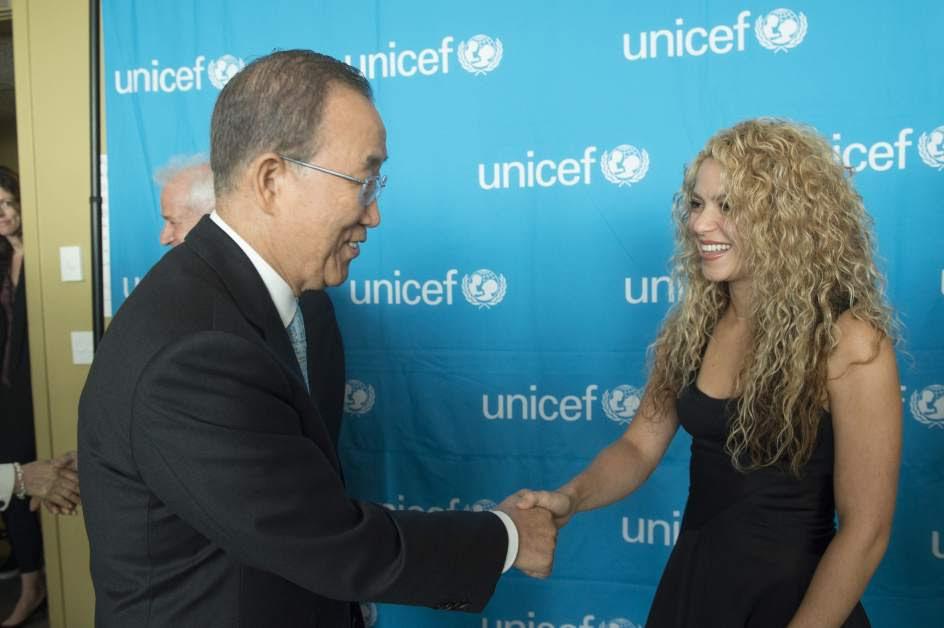 Shakira, embajadora de UNICEF