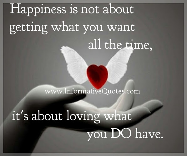 Happiness Is About Loving What You Do Have Informative Quotes