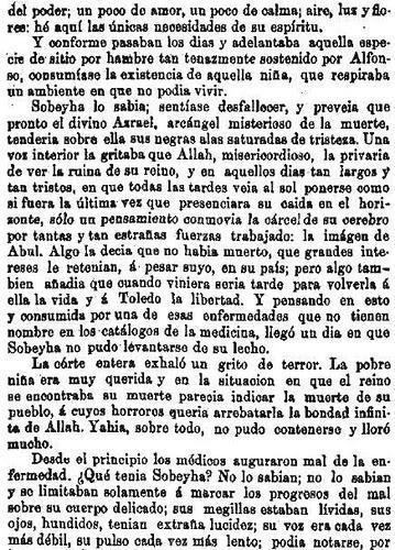Leyenda de La Peña del Moro publicada en La Amérca por Eugenio de Olavarria y Huarte. Página 14