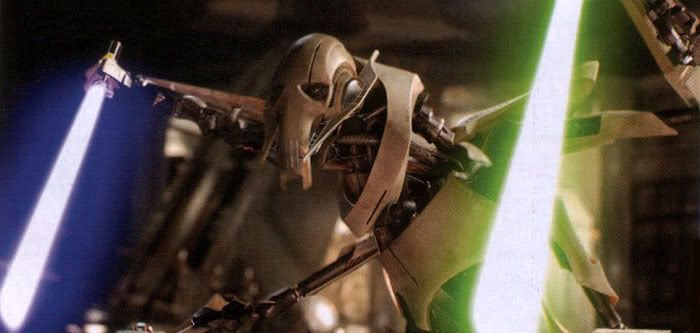 General Grievous with sabers drawn.