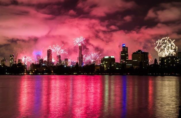 (WORLD SECTION) AUSTRALIA-MELBOURNE-NEW YEAR'S EVE-CELEBRATION