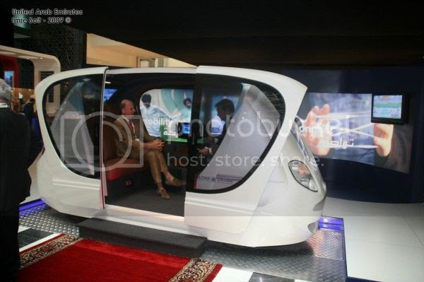 Konsep kendaraan ramah  lingkungan yang dirancang serba otomatis di Masdar City