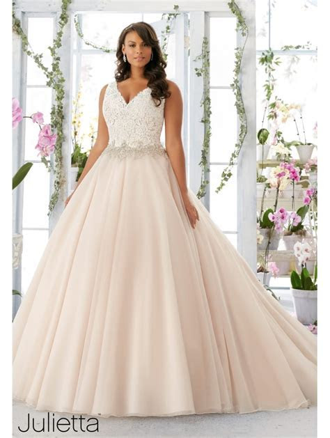 Mori Lee Mischa Plus Size Mermaid Wedding Dress Ivory