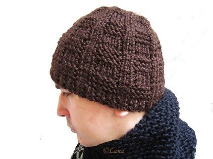pattern knitted hat beanie