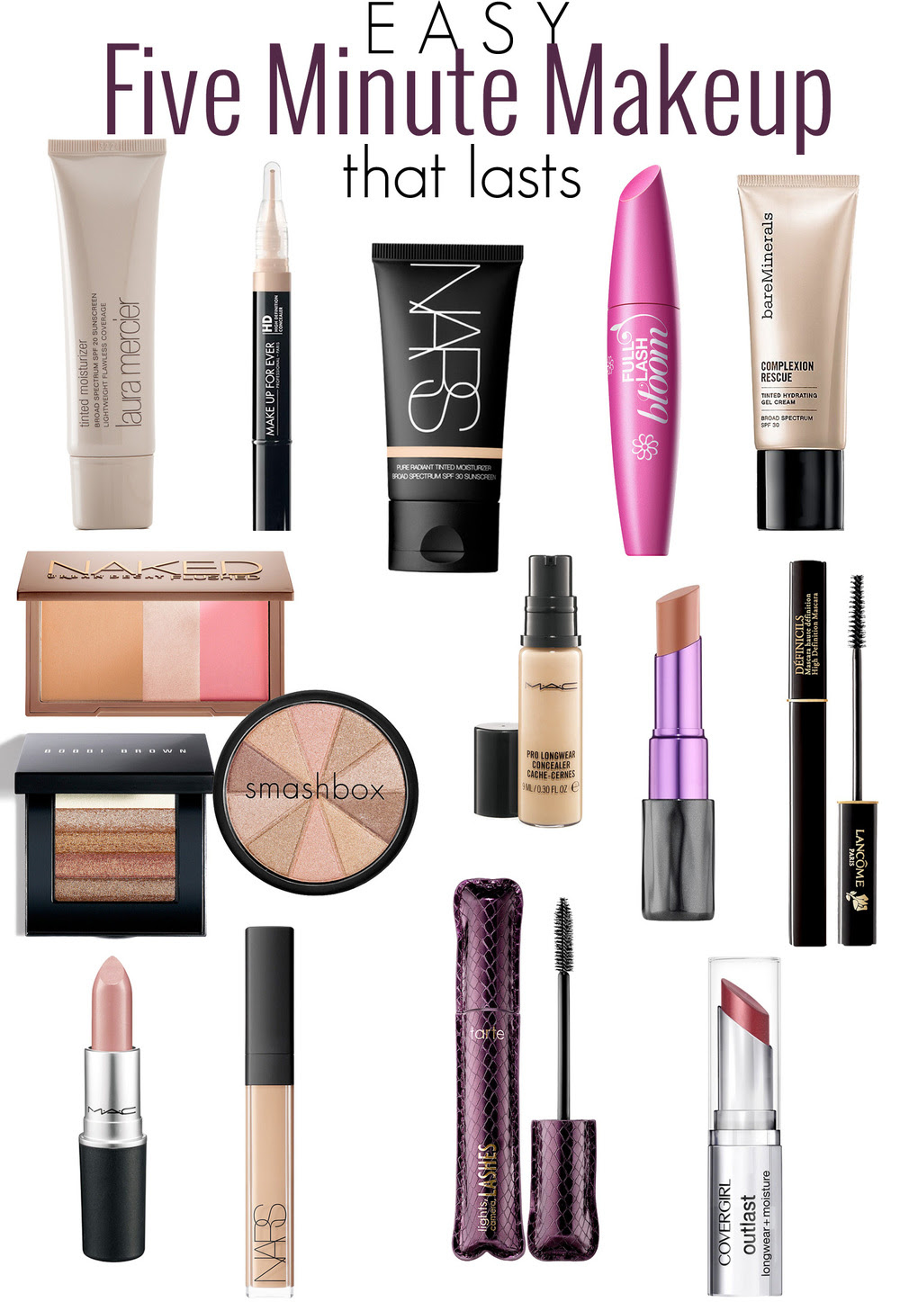 f7343196078 The best makeup products to use for a fast + easy 5 minute makeup routine.