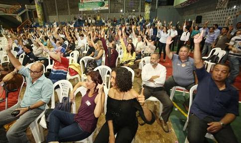 Bancários aprovaram a deflagração da greve na noite de quinta, 25, em Salvador (foto Correio)