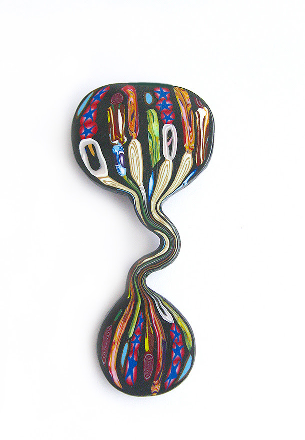 "Brooch ""Dripping cane"""