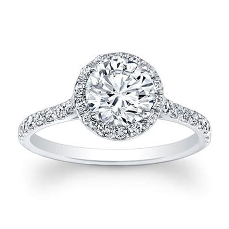 Single Halo Design Forever Brilliant moissanite engagement