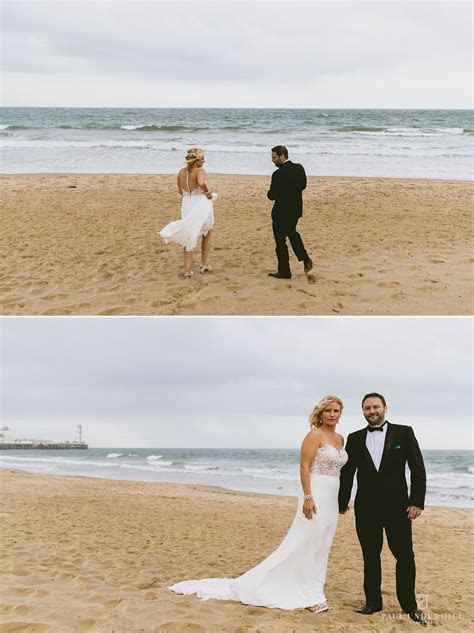 Bournemouth beach tropical themed wedding   Kate David