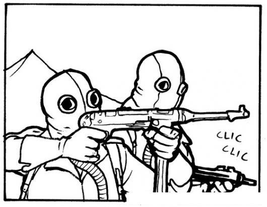 Dibujo De Soldados Sin Balas Para Pintar Y Colorear Armas Sin