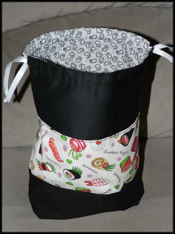 Little Sock Knitting Bag sushi