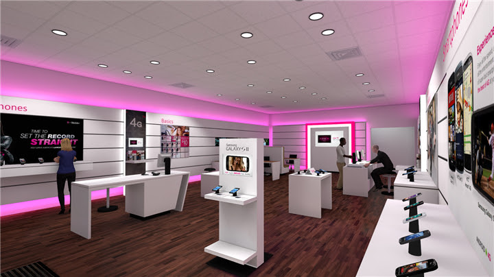 003 T Mobile Cell Phone Store Design Custom Mobile Cell Phone Shop