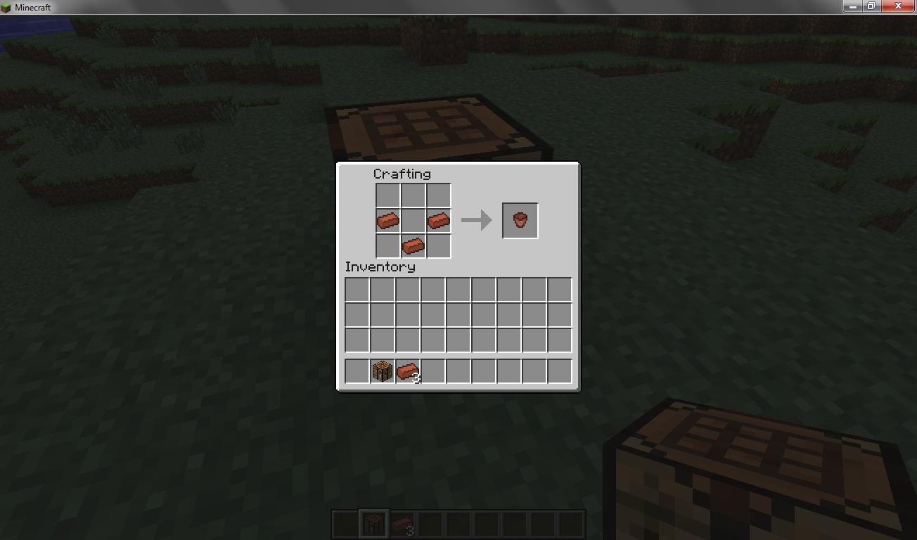 How to craft flower pots! : Minecraft