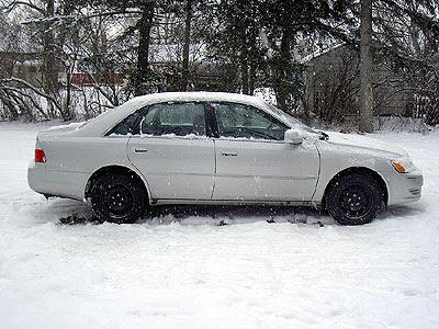 Avalon with snow tires on