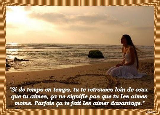 Citation Triste Amour Distance
