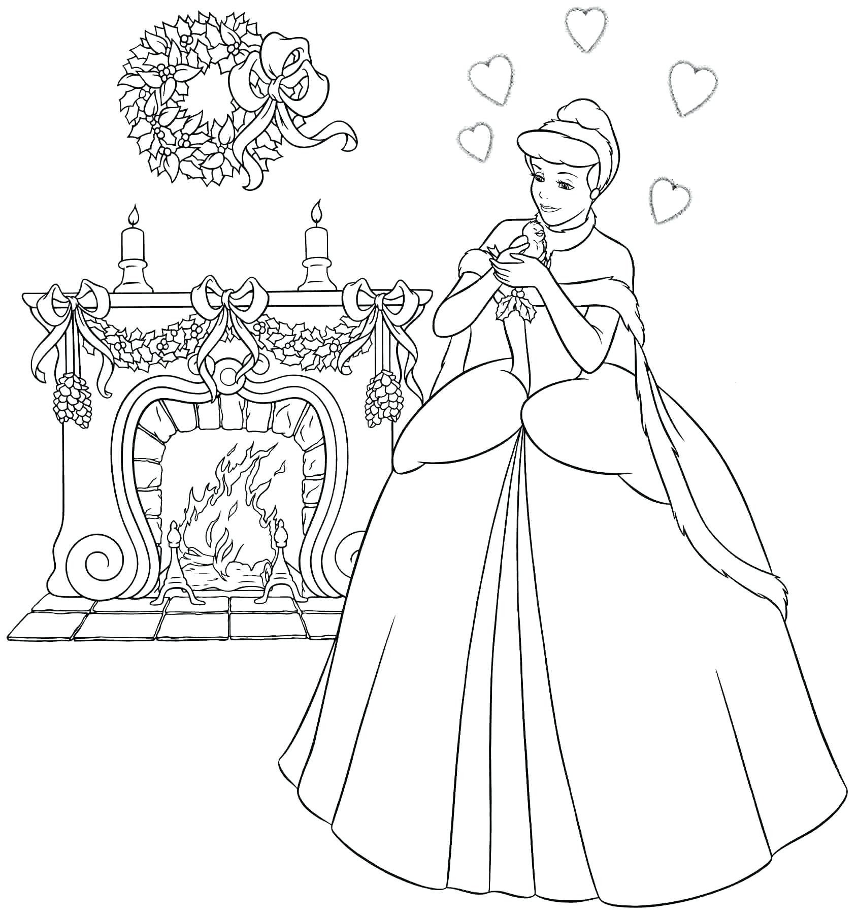 Disney Princess Castle Coloring Pages At Getdrawingscom Free For