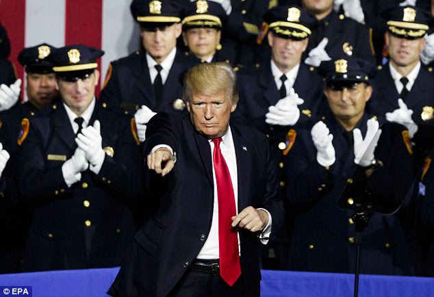Gang crackdown:President Donald Trump delivered a strongly-worded speech in Long Island, New York, Friday and vowed to wipe out MS-13