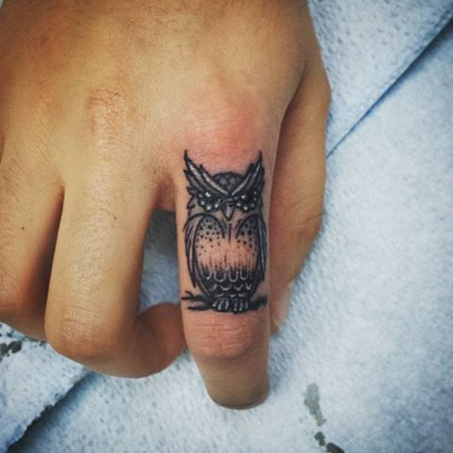 Cute Small Owl Tattoo For Hand Parryzcom