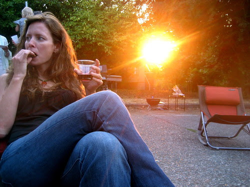 lindsey in sunset