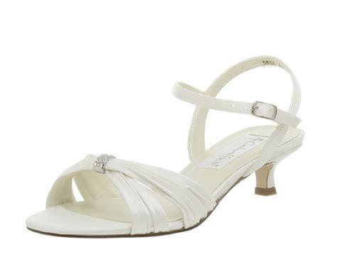 Low heel bridal prom comfortable wedding shoes 2018