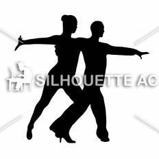 社交ダンス4シルエット イラストの無料ダウンロードサイトシルエットac