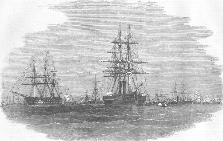 Image result for BOMBAY HARBOUR 1857 - SHIPS READY FOR PERSIAN WAR EXPEDITION