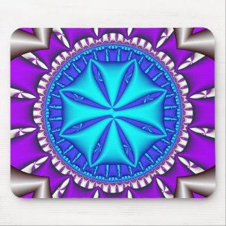 sand dollar - fractal art zazzle_mousepad