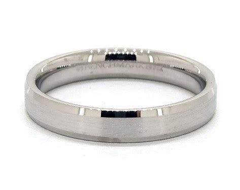 wedding rings, mens carved, 14k white gold 4mm comfort fit