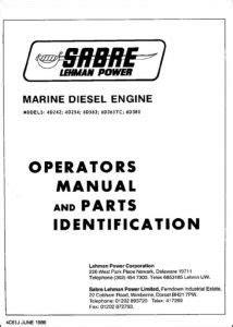 Lehman Diesel Engine Manuals - MARINE DIESEL BASICS