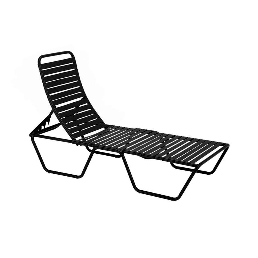 Shop Sun Isle Parker Black Aluminum Stackable Patio Chaise ...