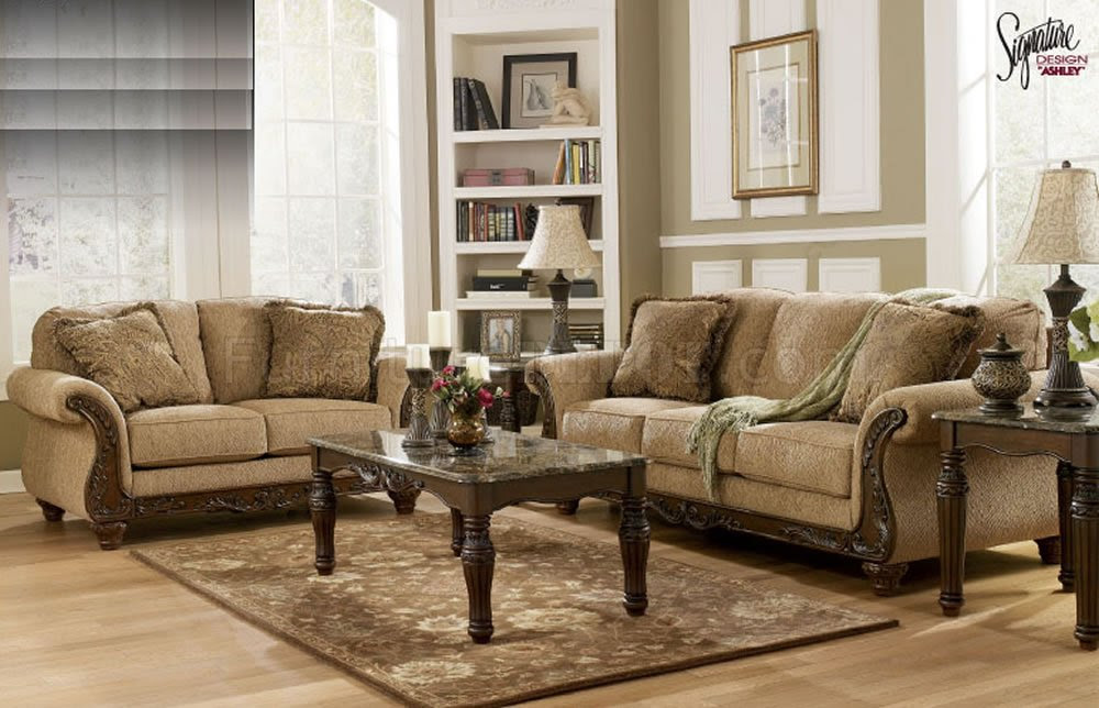 Ashley Chenille Sofa Set