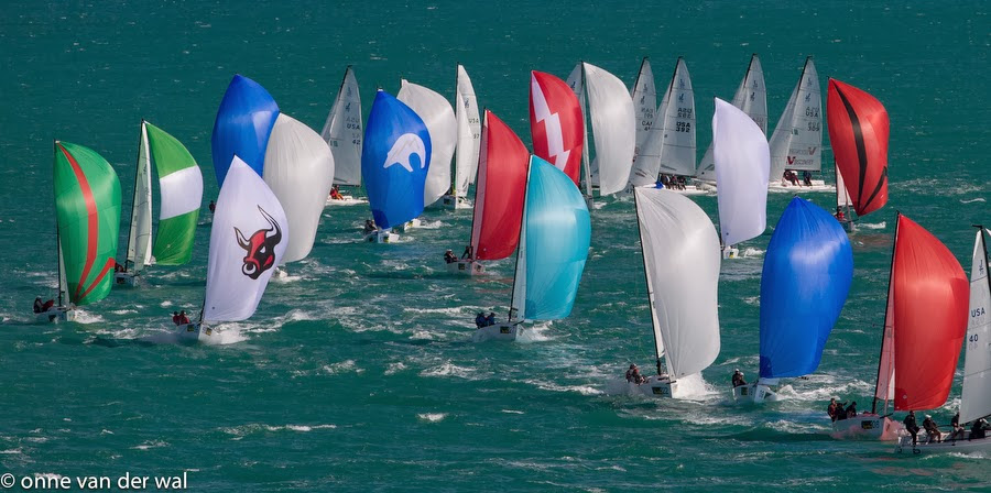 J/70's sailing at Key West Race Week