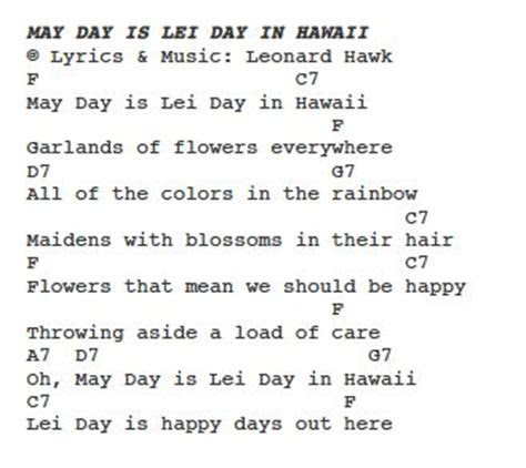 May Day Is Lei Day In Hawaii   PS Learning: 'Ukulele Keiki