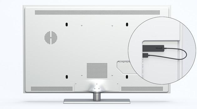 Microsoft Wireless Display Adapter on a TV