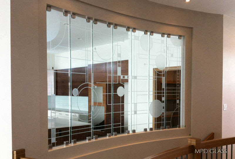 Custom Glass Room Dividers Etching And Film Designs
