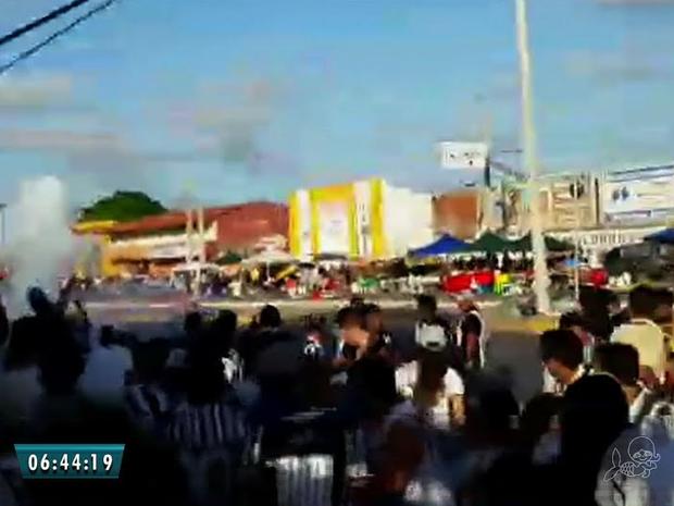 A SSPDS disse também que não houve registros de uma intervenção policial na confusão onde o torcedor morreu (Foto: Reprodução/TV Verdes Mares)