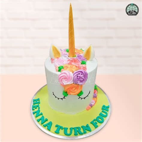 Customised Magical Unicorn Aloha Halal Birthday Cake
