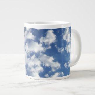 Puffy Clouds On Blue Sky specialtymug