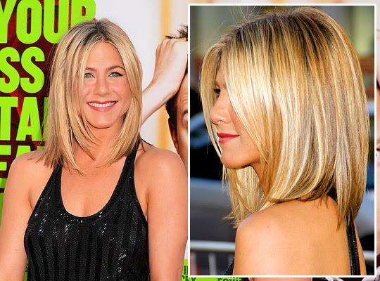 Get Jennifer Anistons Long Angled Bob